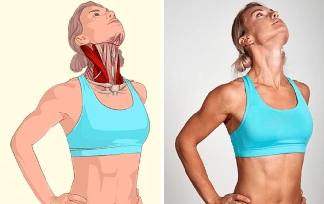 Rozciąganie mięśni szyi
