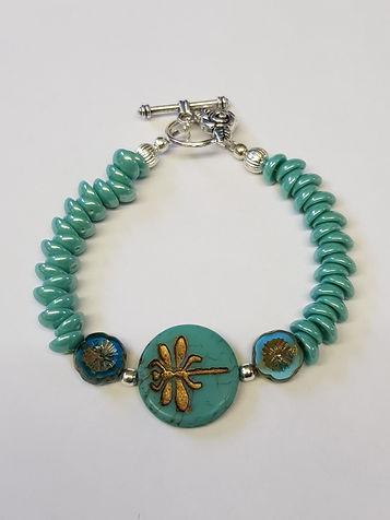 Handmade dragonfly bracelet