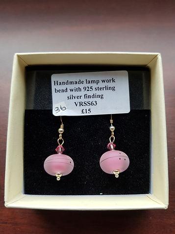 Sterling silver earrings with handmade lampwork beads
