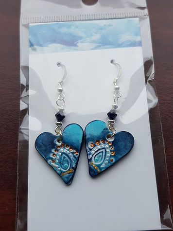 Sterling silver earrings with handmade polymer clay butterflies