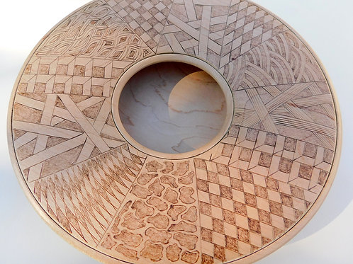 Maple bowl with pyrography by Gary Hawley