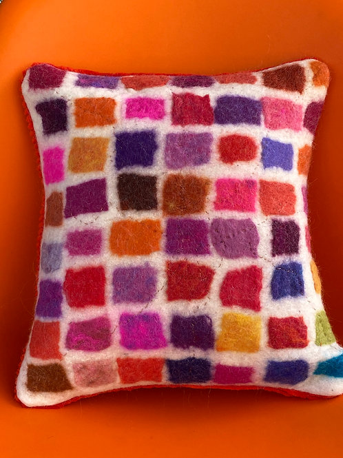 Squares Pillow-White by Cogswool
