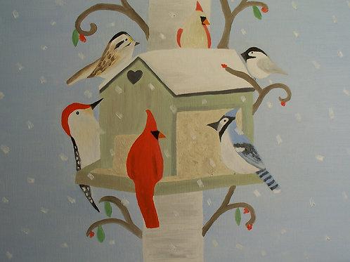 Winter Birdhouse by Miranda Vitello