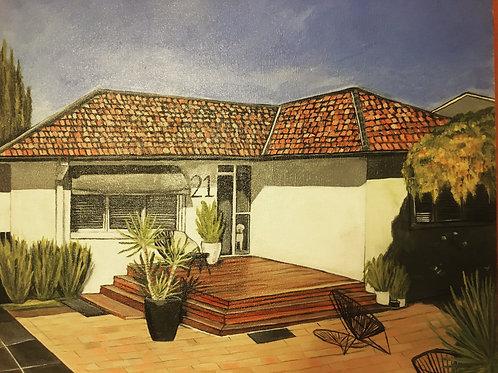 Custom House Portrait (Large) by Freya Emily Jackson