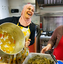 Grape leaves Fun: Thuria and Hebaa by Betty Stone