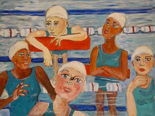 """Honoring Title IX Swimmers - Having a Lane"" by Laura Scheuerell"