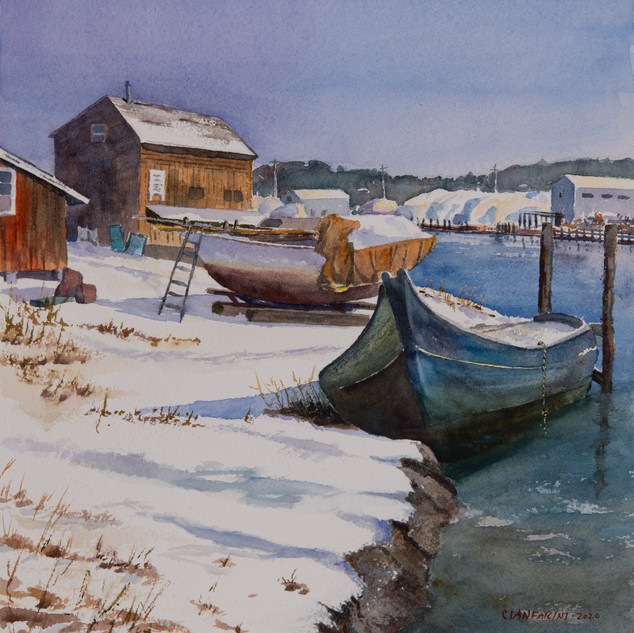 Winter Light, Essex Boatyard by Dan Cianfarini