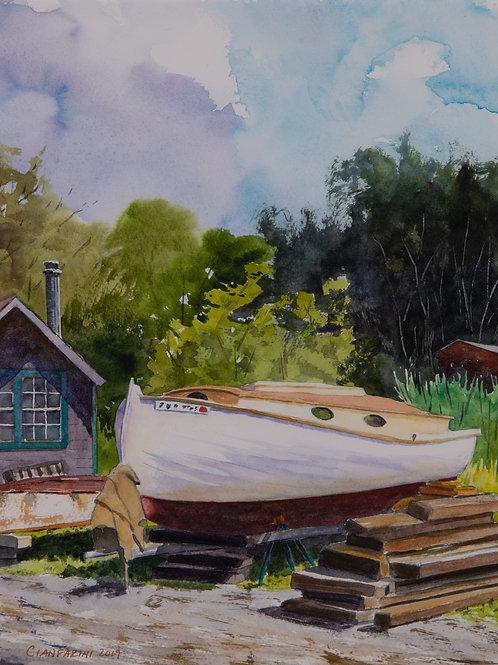 High Noon, Essex Boatyard by Dan Cianfarini