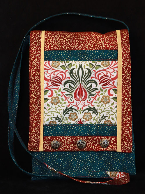 Red, Green, and Gold Purse by Martha Ingols