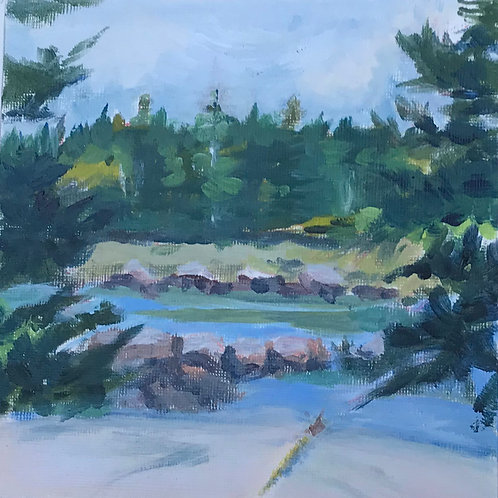 """Mill River Mid Tide"" by Cathy Garnett"