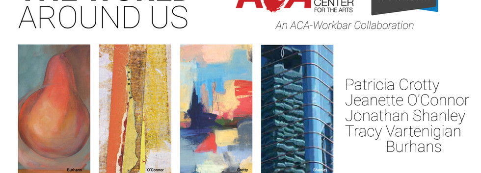 Graphic image of 4 works of art and title of exhibit