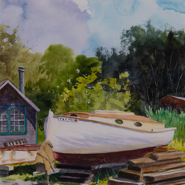 High Noon, Essex Boatyard by Dan Cianfarini