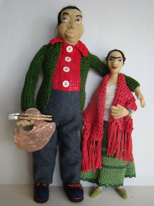 Frida and Diego by Anastasia Semash Art Studio
