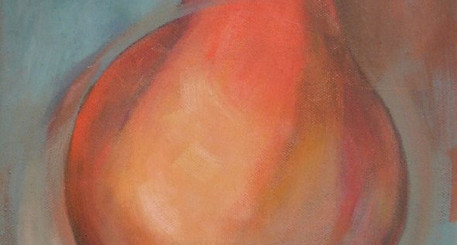 Painting of a Pear by Tracy Vartenigian Burhans