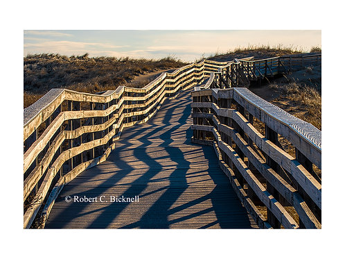 Boardwalk, Morning Light  by Robert Bicknell Photography