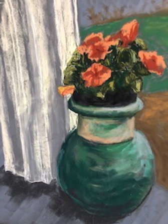 Geraniums by J. Pullman Art