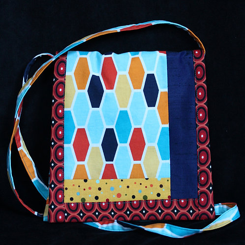 Turquoise, Yellow, and Red purse by Martha Ingols