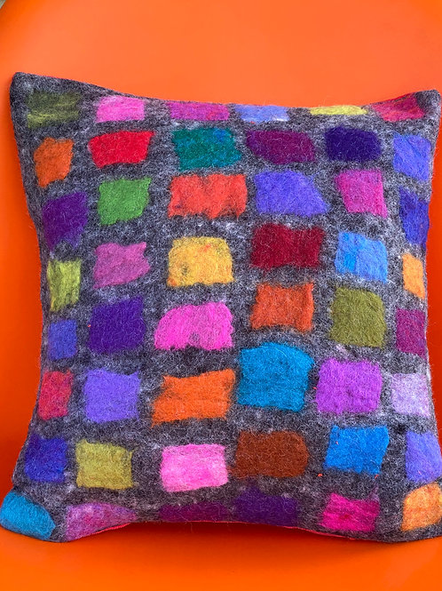 Square Pillow--Grey by Cogswool