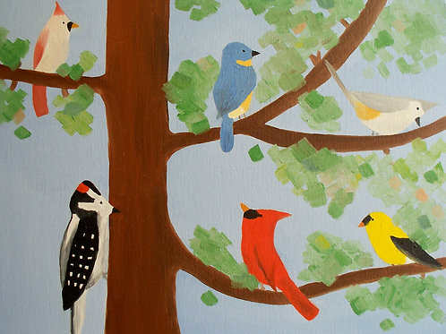 Six Birds in a Tree by Miranda Vitello