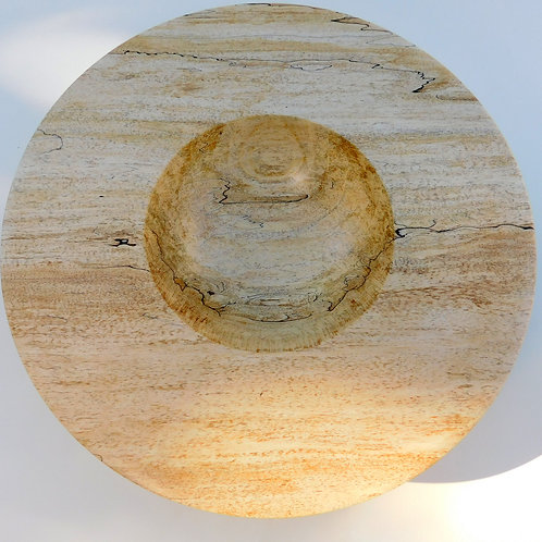 Spalted maple bowl by Gary Hawley