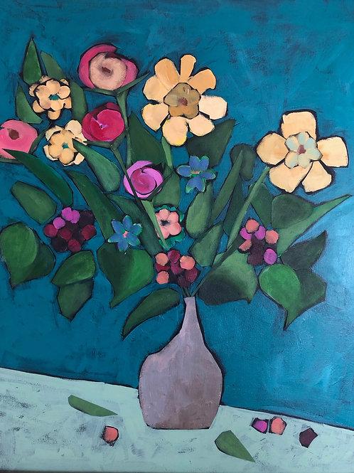 Small Grey Vase by J. Pullman Art