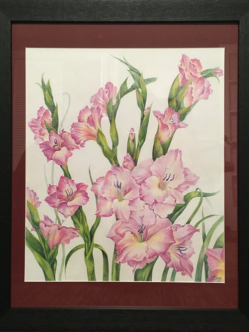 August Flowers by Anastasia Semash Art Studio