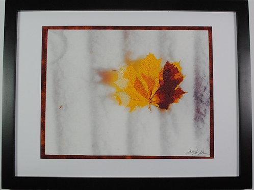 """Winter Leaf"" Sewn Photo by Julie Brown Neu"