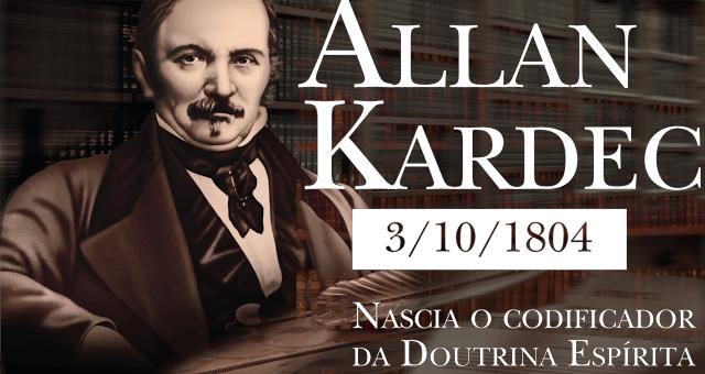 Nascimento de Allan Kardec, o codificador da Doutrina Espírita.