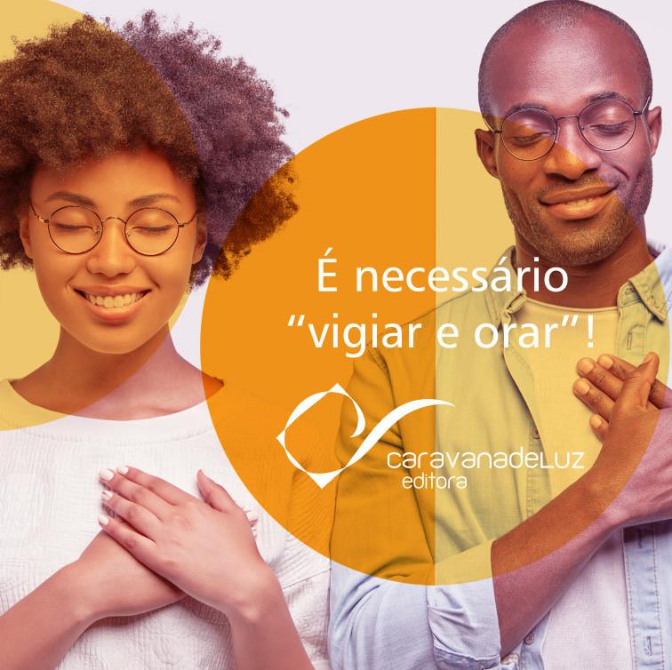 Caravana de Luz Editora: jovens afros orando.