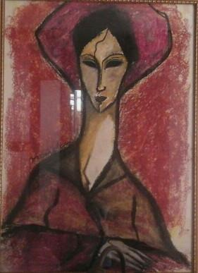 Pintura Mediúnica - Modigliani. Médium Lívio Rocha Barbosa.