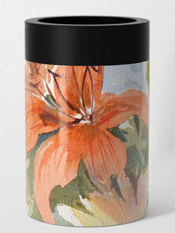 Floral No 7 Can Cooler