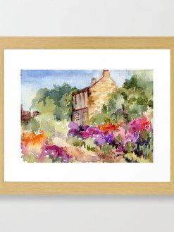 pat-roessler-cottage-no-2-framed-prints.
