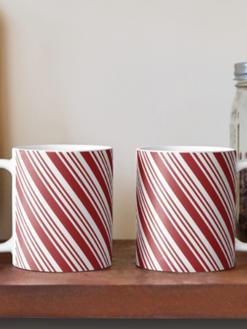 Peppermint Stripe Mugs