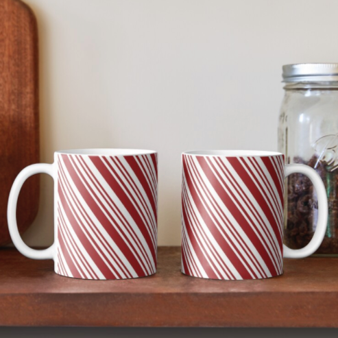 Peppermint Stripe Mugs