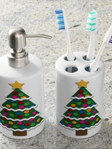 Christmas Tree bathroom set