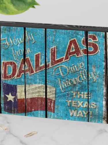 Vintage Dallas decorator box