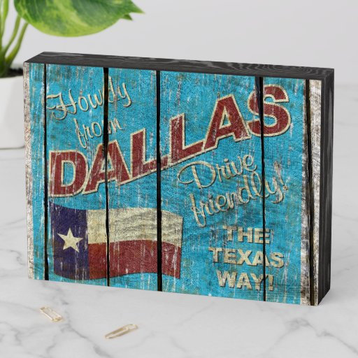 Vintage Dallas decorator box