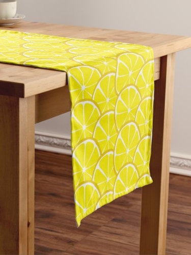 Retro Lemon table runner