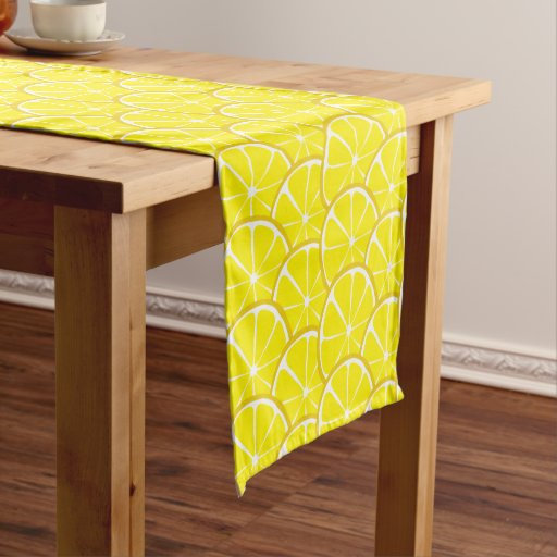 Retro Lemon table runner