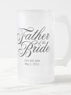 Father of the Bride customizable frosted mug