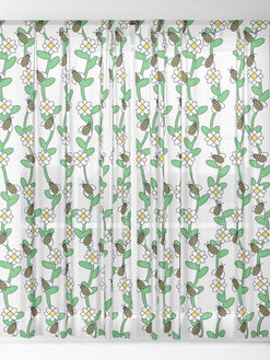 Bees & Flowers Sheer Curtains