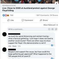 Close to 2000 at Auckland protest