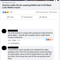 Teacher under fire for wearing MAGA hat to Black Lives Matter march