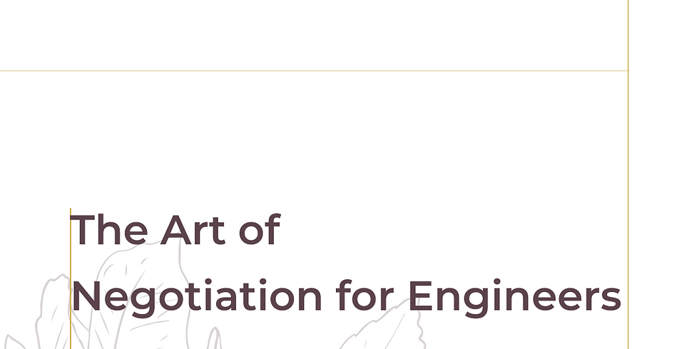 Workshop: The Art of Negotiation for Engineers