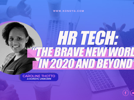 """""""HR tech bridging companies into the brave new world of 2020 and beyond"""" by Caroline Thotto"""