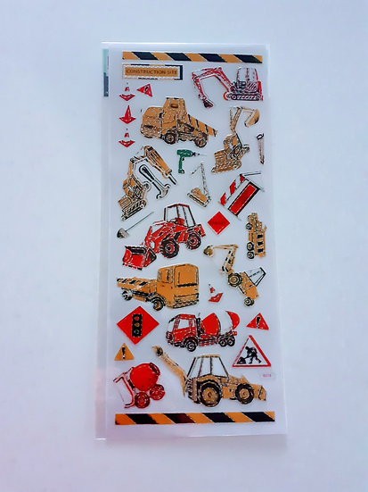 Stickers- Construction site vehicles