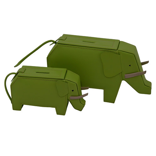 Lime Green Elephant money boxes