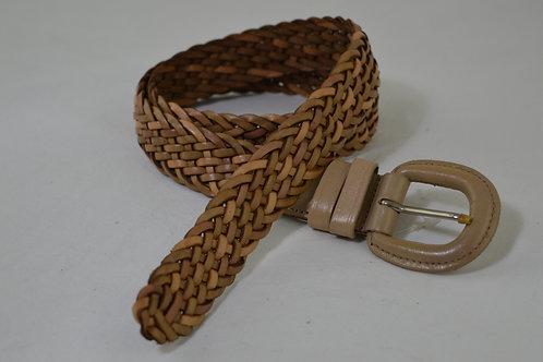 3cm Wide Hand Plait Leather Belts