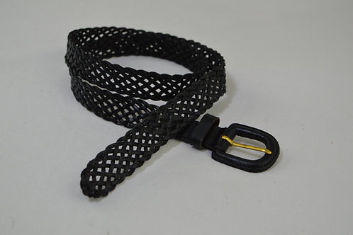 Open Weave Hand Plait Soft Leather Belt - 25mm Wide