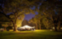 Columbus Indiana Wedding Tent with Lights